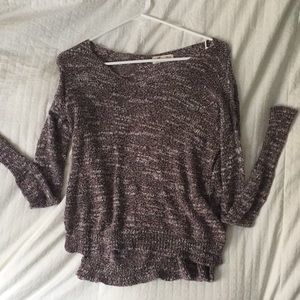 Purple knitted textured sweater